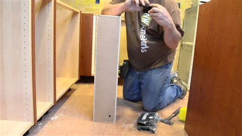 Images Of Small Kitchen Islands ikea hack how to make a 6 quot ikea cabinet with door youtube
