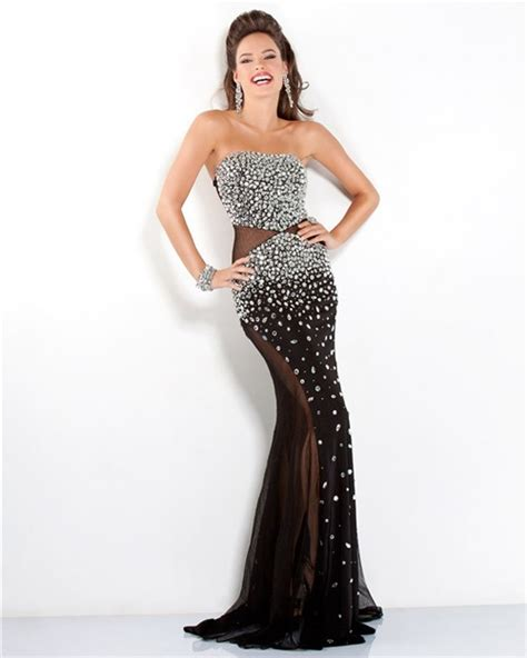 strapless gown with cutout sides by strapless side cut out see through black tulle