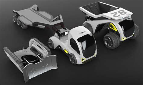 design concept construction futuristic space truck construction set by zukun plan tuvie