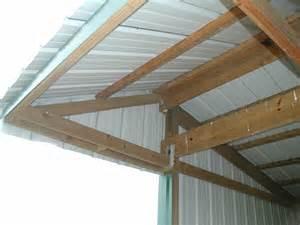 shed roof loafing shed overhang 1