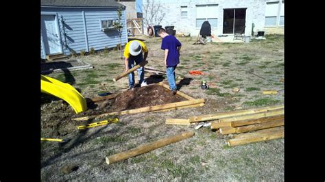 install landscaping timbers youtube