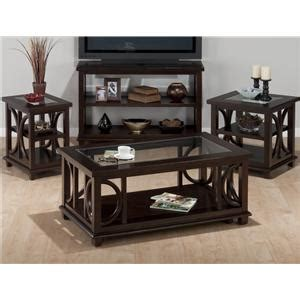panama brown contemporary coffee table with beveled glass