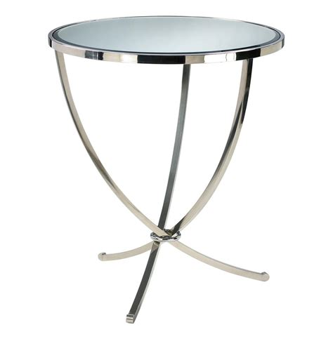 Contemporary Entry Table Nuovo Silver Contemporary Mirrored Pedestal Entry Table Kathy Kuo Home