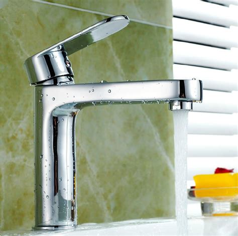 bathroom basin taps single hole free shipping modern bathroom taps brass chrome single