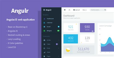 angularjs dynamic layout 10 best responsive admin dashboard templates
