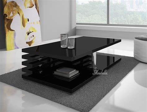 salontafel zwart vierkant met lade salontafel altea zwart hoogglans meubella