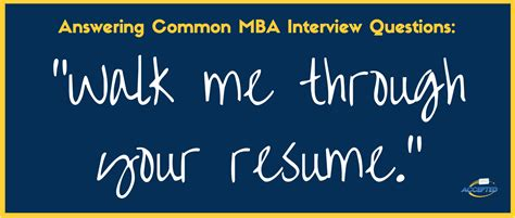 Walk Me Through Your Resume Sle Answer Mba by Walk Me Through Your Resume Mba Questions