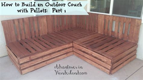 how to make a sofa out of pallets how to build an outdoor couch with pallets part 1