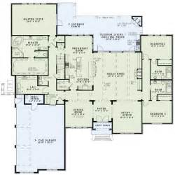 great room house plans one story luxury style house plans 3766 square foot home 1 story