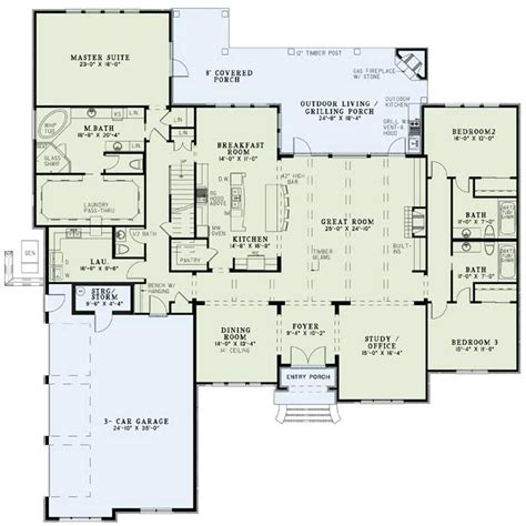 Non Open Floor Plans by European Style House Plans 3766 Square Foot Home 1