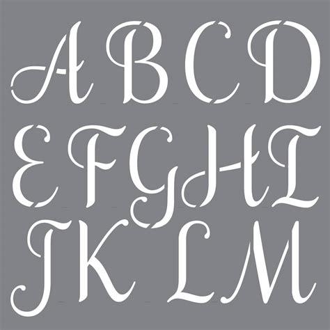 decoart personally  sophisticated alphabet stencil