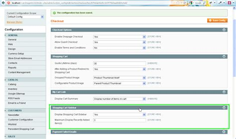 magento shopping cart and checkout settings template