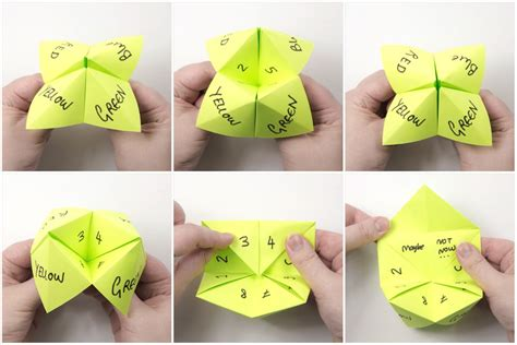 Origami Cootie Catcher - how to make an origami cootie catcher