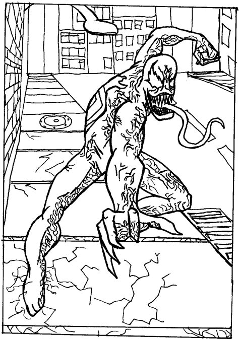 Free Printable Venom Coloring Pages For Kids Venom Coloring Pages