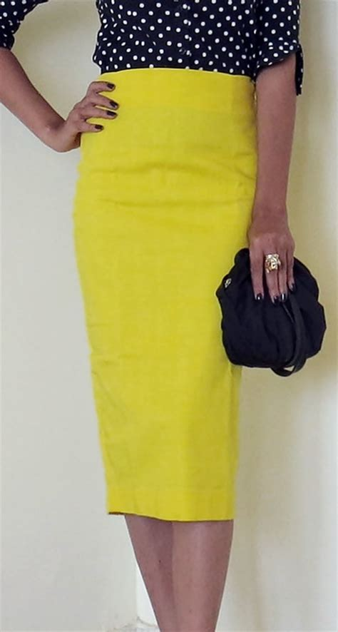 yellow pattern pencil skirt yellow pencil skirt fashion skirts