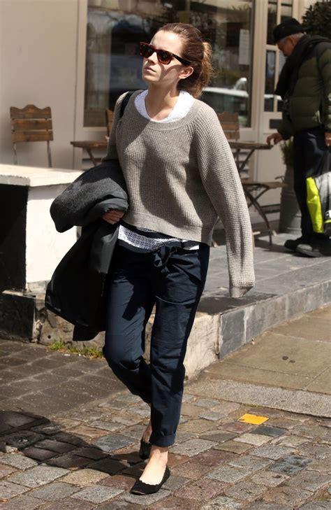 emma watson casual style   london