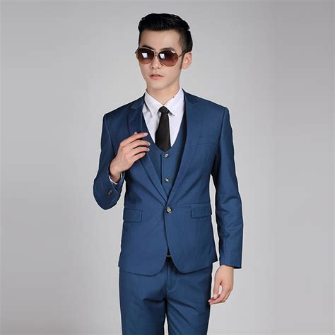 wearing a royal blue suit for wedding my wedding ideas men fashion single button formal suits work wear business
