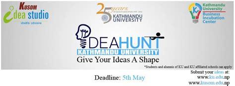 idea hunt ku idea hunt 2016 let your idea change the world techlekh