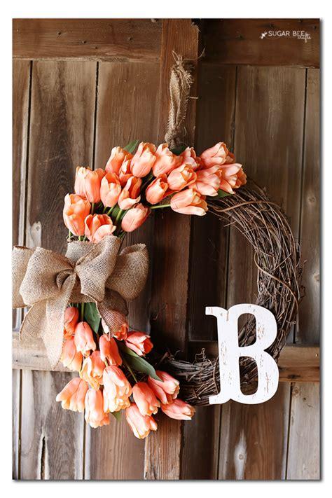 spring tulip wreath sugar bee crafts