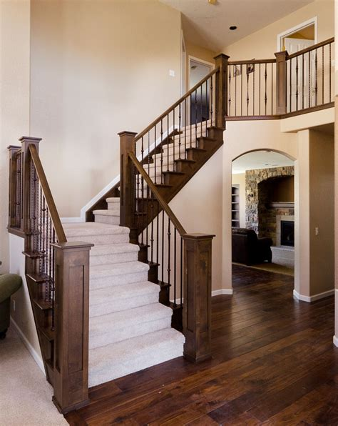 image detail for stair rail with metal balusters