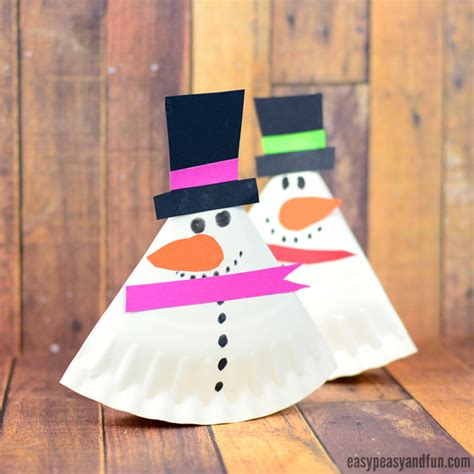 Paper Plate Snowman Craft - rocking paper plate snowman easy peasy and