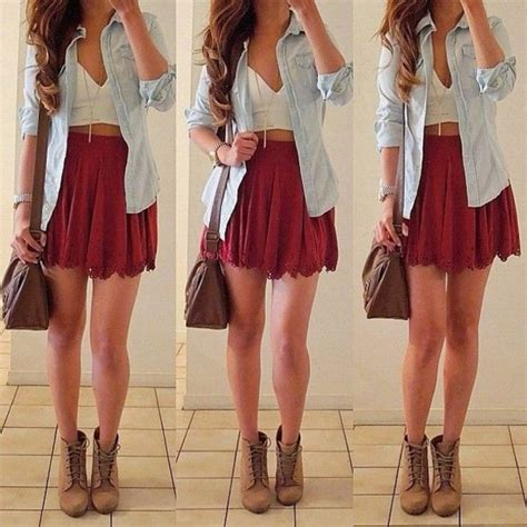 shirt skirt bag jewels shoes jacket skirt high