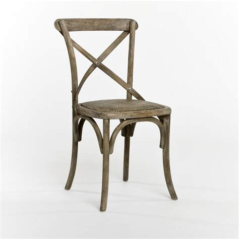 Cafe Bistro Chairs Zentique Parisienne Cafe Chair In Limed Grey Oak Traditional Dining Chairs By Candelabra