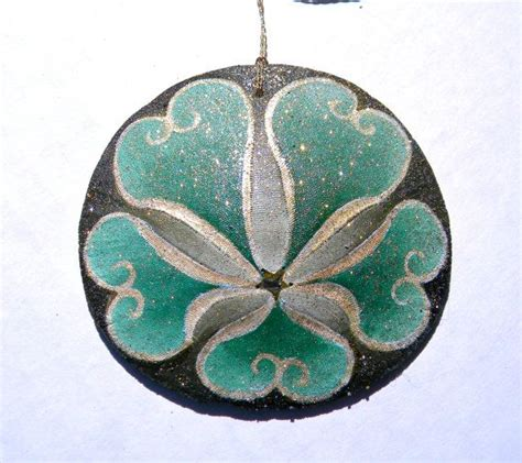 neverland painted california sand dollar ornament