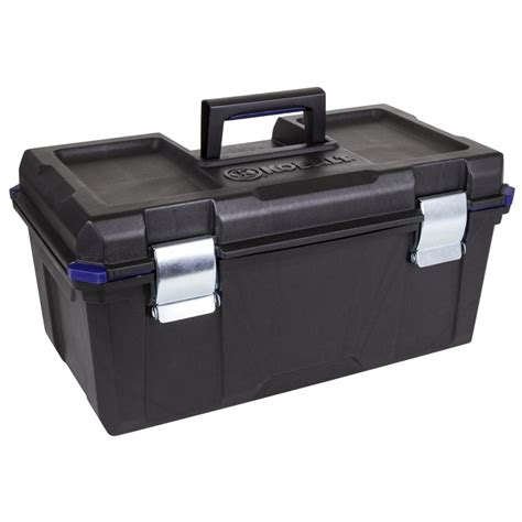 tool box shop kobalt zerust 22 in plastic lockable tool box black