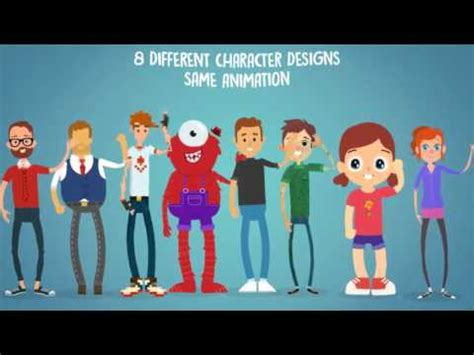 Rigmo Rigged Character Animation Mockup After Effects Template Youtube After Effects Character Rig Template