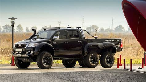 this bulgarian toyota hilux 6x6 is rugged on the outside