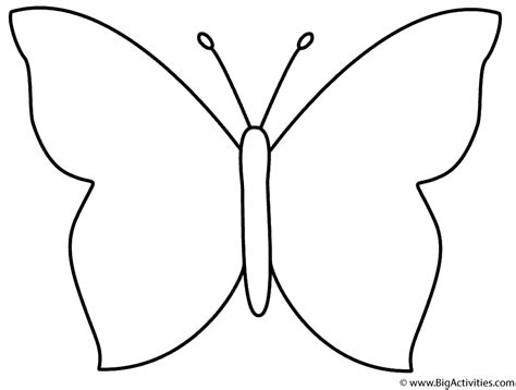 simple coloring pages of butterflies simple butterfly coloring page insects