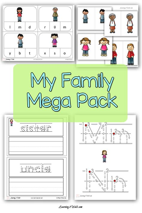 kindergarten activities my family all about the my family mega pack