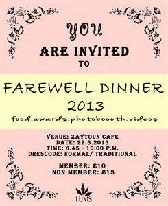 farewell invitation card template leicester malaysian society the official