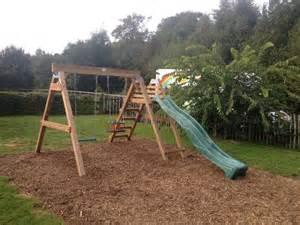 Swing Set With Slide Heavy Duty Deacon Swing Slide Set By Sttswings