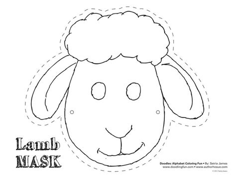 free printable sheep template sheep mask template buscar con preschool ideas