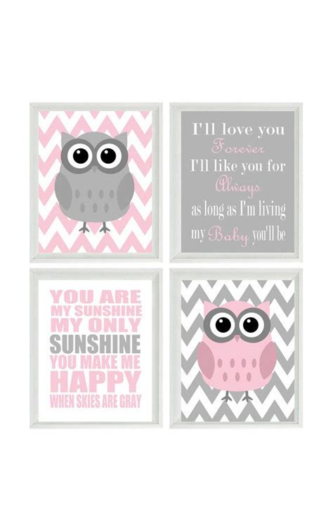 printable owl quotes nursery art owl print set you are my sunshine quote