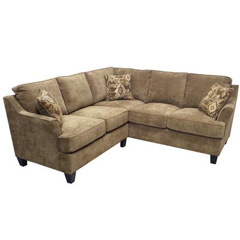 sandi light brown fabric sectional sofa overstock