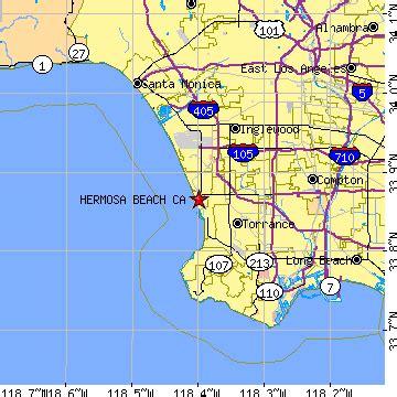 california map hermosa hermosa california ca population data races
