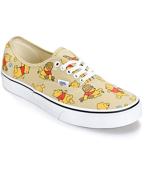 disney shoes for adults disney x vans authentic winnie the pooh skate shoes zumiez