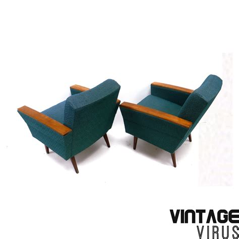 made armchairs vintage armchairs with petrol turquoise upholstery made