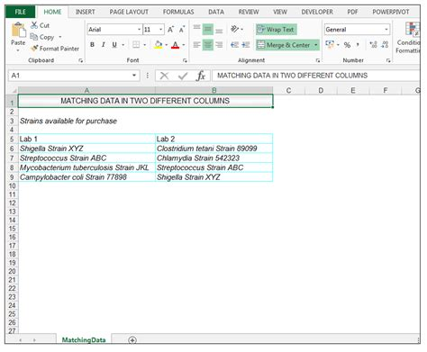 format excel column how to compare two columns in excel to find differences