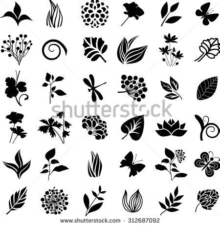 nature element pattern natural icon series stock vector 367649813 shutterstock