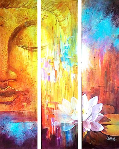 painting images buy multipiece buddha by vekkas mahalley rs 11490 code