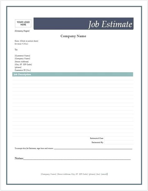 Estimate Invoice Template Invoice Templates For Estimate Invoice Sle Europcars Club Bid Invoice Template