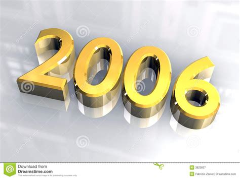 new year in 2006 new year 2006 in gold 3d stock illustration image of