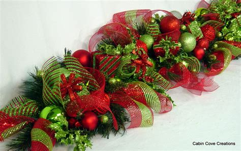 sale holiday bling decorated mantel garland christmas red