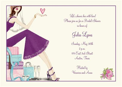 show card templates bridal shower invitation bridal shower invitation