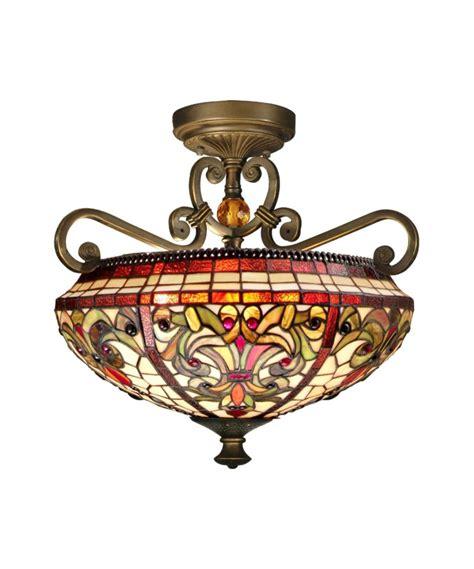 dale tiffany ceiling fan dale tiffany th13090 2 light baroque semi flush mount in