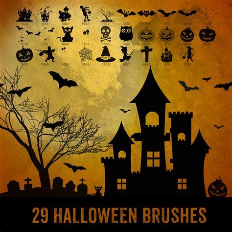Christmas Ornaments - 29 halloween brushes photoshop brushes